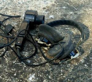 Radio-Headphones-TK-67-U-Microphone-USSR-Headset-Vintage-Soviet-Russian-Military