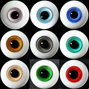 Glass BJD Eyes for Joint 1//4 BJD Dollfie Deep Green Iris with texture Nice 14mm