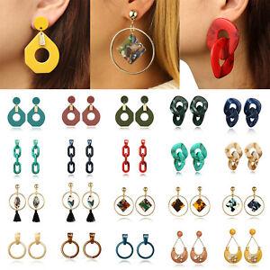 Fashion-Women-Boho-Acrylic-Hollow-Geometric-Big-Circle-Drop-Dangle-Earrings