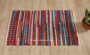 details sur indien handmade coton boheme sol tapis hippie tapis main tresse porte tapis