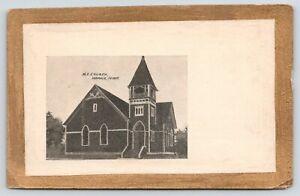Harris-Iowa-Methodist-Episcopal-ME-Church-1905-Gold-Border-Postcard