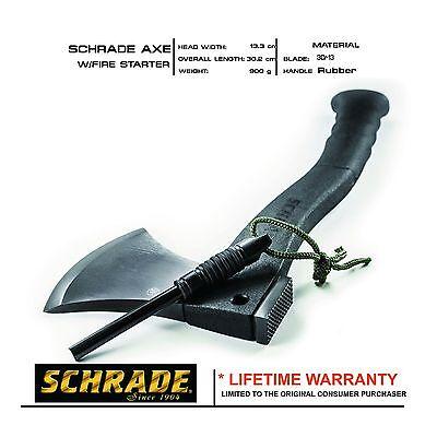 Schrade Axe With Fire Starter &Rubber Handle #SCAXE2