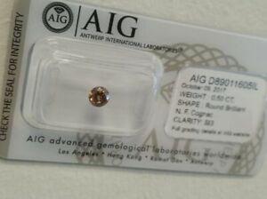Diamant-Certifie-AIG-0-50-ct-Diamants-Natural-Fancy-Cognac-SI3-Sous-Blister