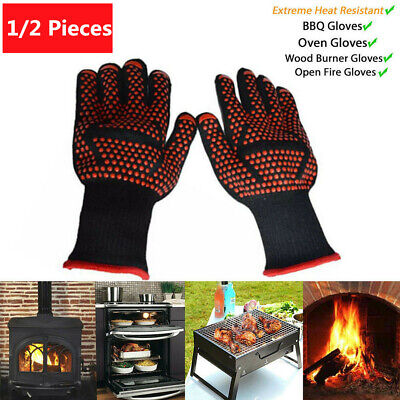 1//2PCS Cook Gloves USA Oven Hot Grilling BBQ Resistant Heat 932℉ Cooking Extreme