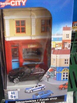 Dönerimbiss mit BMW X6 1:64 NEU herpa 800068 City OVP