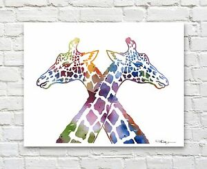 Giraffe-Love-Abstract-Watercolor-Painting-Art-Print-by-Artist-DJ-Rogers