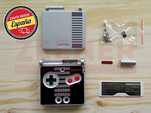 Carcasa-para-Game-Boy-Advance-SP-edicion-NES-GBA-SP-NES-Edition-Nueva