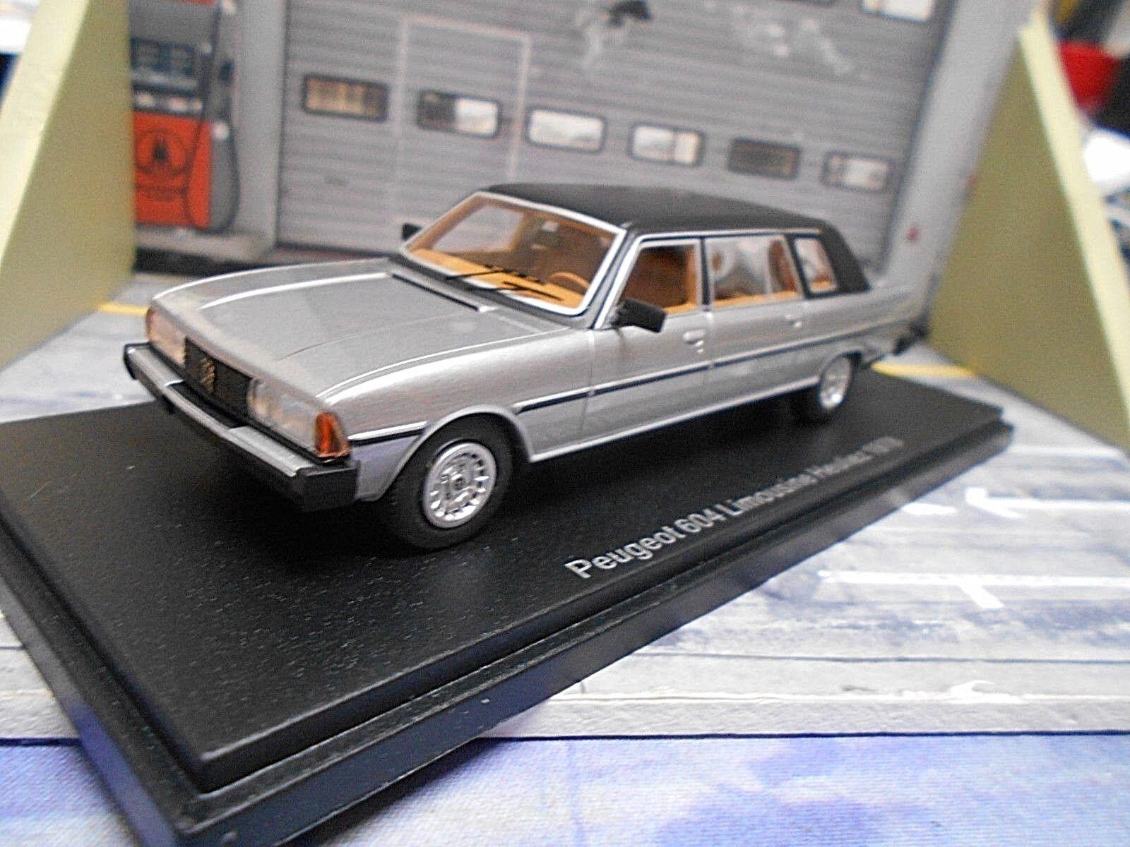 PEUGEOT 604 Limousine Heuliez silber 1978 Stretch NEO Highenddetail Resin 1 43
