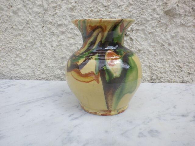 Vase en Terre Cuite Décor Jaspé