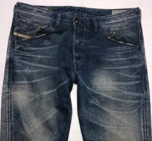 Da-Uomo-Diesel-Belther-Jeans-W32-L32-Blu-Regular-Slim-Tapered-Wash-0816J