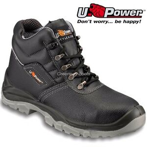 f9de7559005 Details about MENS U POWER LEATHER LIGHTWEIGHT WATERPROOF STEEL TOE CAP  SAFETY BOOTS TRAINERS
