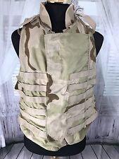 Point Blank Body Armor Vest XL 46-49 Woodland Camo USA Interceptor Lot Collar M