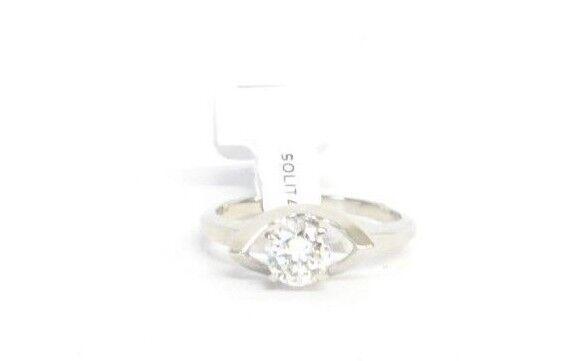 (RI3) Ladies 14K White gold Diamond Ring - sz. 5.5 - 2.4 g - .45 TCW