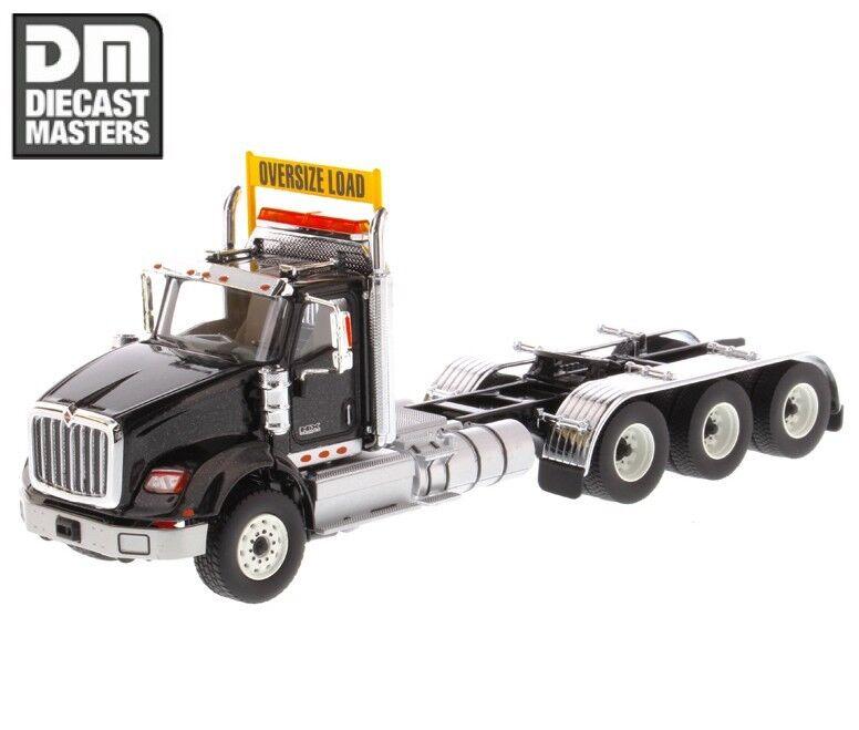Diecast MASTERS NOIR 1 50 HX620 Day Cab Tandem Tracteur Remorque Camion Modèle Jouets