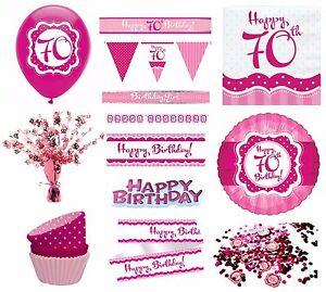 Das Bild Wird Geladen Perfekt Rosa Maedchen Alter 70 Happy 70th Birthday