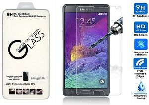 PREMIUM HD CLEAR TEMPERED GLASS SCREEN PROTECTOR FOR SAMSUNG GALAXY NOTE 4