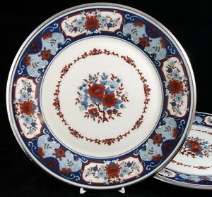 Lenox-INTERLUDE-2-Dinner-Plates-GREAT-Trim-and-Color-GREAT-VALUE