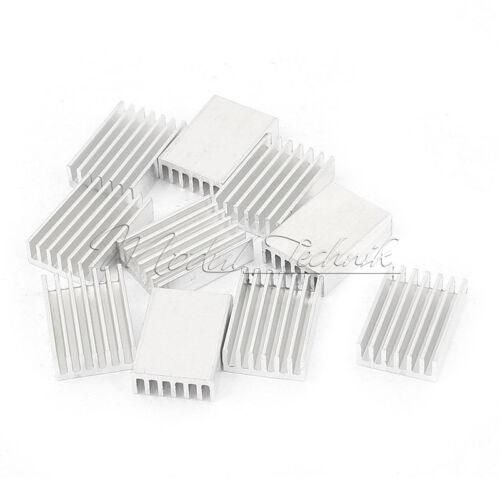 20Stks Silver Tone 20x14x6mm Rectangle Aluminium Heat Sink Cooling Cooler Fin