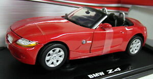 Motormax-1-18-Scale-73144-BMW-Z4-3-0-Roadster-Red-Diecast-model-car