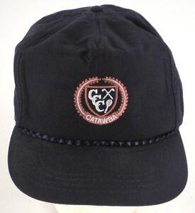 Catawba-Country-Club-Newton-NC-VTG-Cap-Hat-Blue-Derby-Cap-Golf
