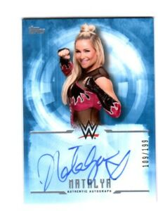WWE-Natalya-2017-Topps-Undisputed-Blue-On-Card-Autograph-SN-109-of-199