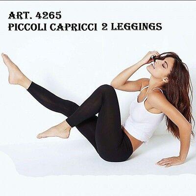 2 Leggings Donna Cotone Leggero Elasticizzato Jadea Art.4265 A Scelta