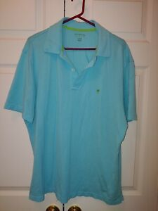 Men Lilly Pulitzer Solid Blue Short Sleeve Antique Polo Golf Shirt Size XL