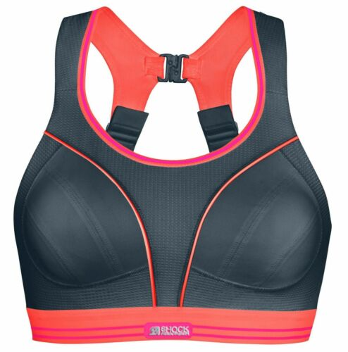36A Pack of 2 Shock Absorber Ultimate Run Sports Bra Pink Coral Grey Coral