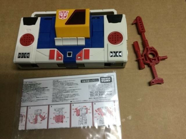 Takara Japan Transformers Re-Iusse G1 bluee Blaster broadcast Completed Weapons