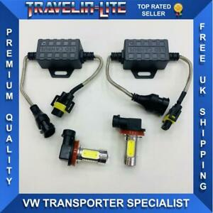 VW-T6-Transporter-LED-Luz-de-Niebla-Bombillas-amp-Resistencias-Canbus-Libre-De-Error-De-Calidad