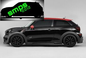 Mini-Paceman-R61-GLOSS-Blackout-De-chrome-Premium-Beltline-Kit-Belt-line-kit-JCW