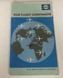 KLM-Royal-Dutch-Airline-Booklet-Flight-Companion-Vintage-Brochure-Maps