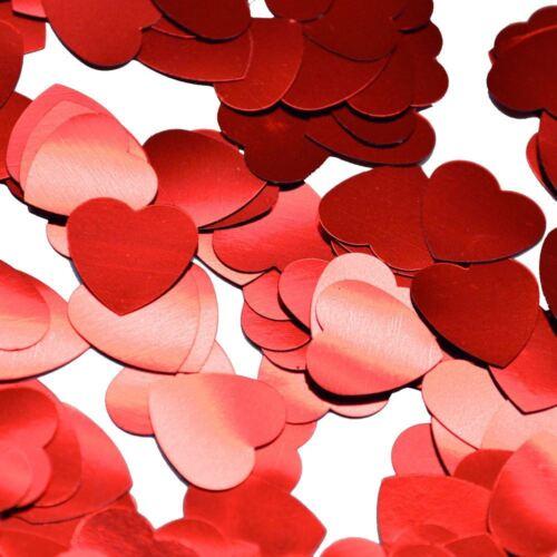 Wedding anniversary confetti red heart valentine decorations