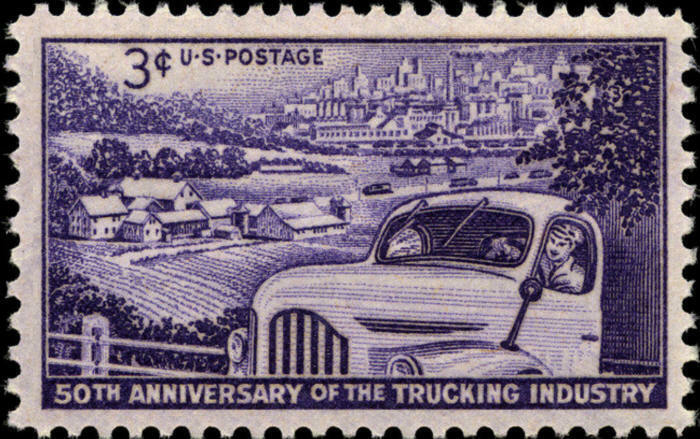 1953 3c Trucking Industry, 50th Anniversary Scott 1025