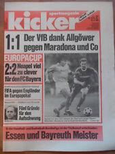 KICKER 33-20.4. 1989 Bayern-Neapel 2:2 Dresden-Stuttgart 1:1 AC Mailand-Real 5:0