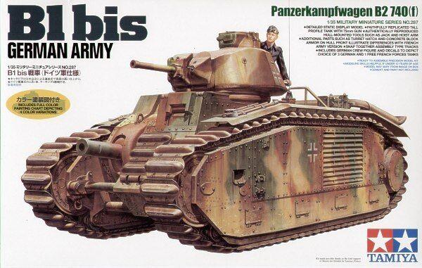 KIT TAMIYA 1 35 B1 BIS GERMAN ARMY Panzerkanpwagen B2 740 f) 35287