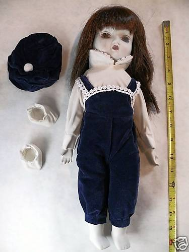 Hands Porcelain Head Chest and Feet 16 inch tall Doll