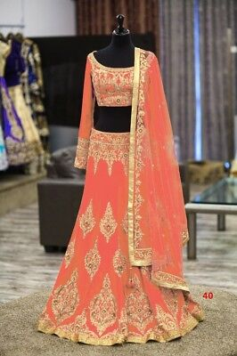 Other Women's Clothing Designer Indian Party Wear Ethnic Peach Lehenga Choli Mosh Bollywood Wedding New Relieving Rheumatism And Cold
