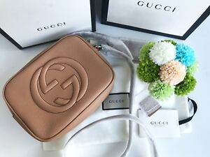 Gucci-Soho-small-leather-disco-bag-rose-beige-leather-BRAND-NEW-AUTHENTIC