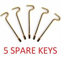 10-PK SPARE KEYS for KWIKSET INTERIOR BED BATH KNOBS EMERGENCY KEY 81087-001
