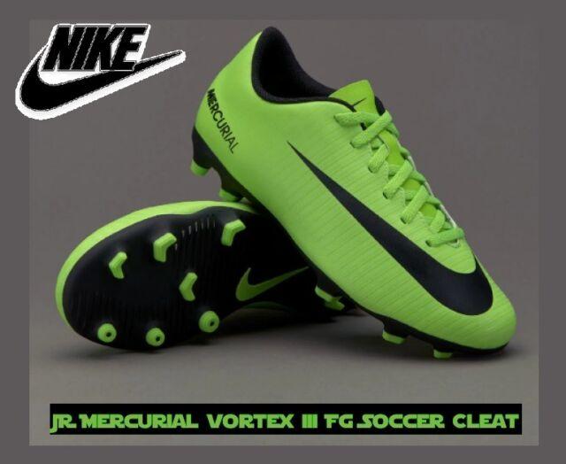 33f0af7c21d NIKE JR MERCURIAL VORTEX III FG Green Black Youth Size 1Y 1.5Y 2Y 3Y New