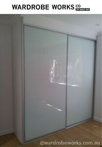 2-Wardrobe-Sliding-Doors-Made-to-Measure-OPAL-GLASS-DIY-custom-made-Brisbane
