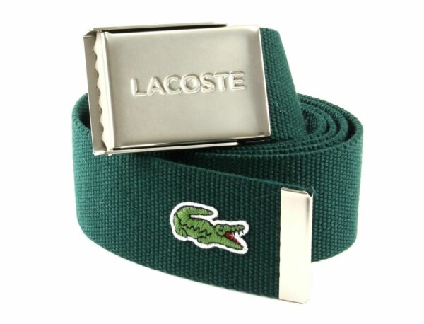 100% Vero Lacoste Cintura Casual Woven Strap W90 Scarab