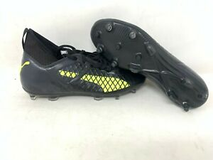 NEW-Puma-Men-039-s-Future-18-3-FG-Soccer-Cleats-Lace-Up-Black-Yellow-104328-A23-z