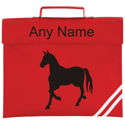 Personalised HORSE School BOOK BAG Colour Choice.