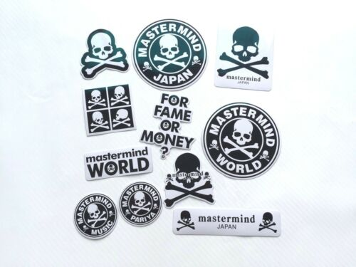 Set of 11 Mastermind Japan Pariya Music World Fame Money Skulls 3M Vinyl Sticker
