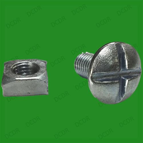 10x M10 X 25mm brillante zincado tuercas para techos de acero (BPZ) & Pernos