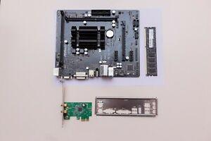 Bundle Asrock Q1900M Intel Celeron J1900 4x2GHz 4GB DDR3 RAM micro-ATX WLAN