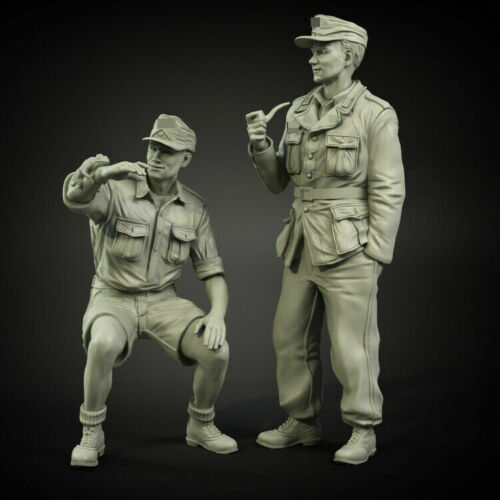 1//35 German ww2 set 2 tlg Panzerbesatzung Soldaten Scale Resin Figure