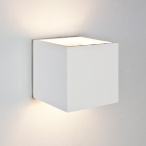 Astro pienza square cube ceramic plaster wall light 60w e27 white image is loading astro pienza square cube ceramic plaster wall light aloadofball Choice Image